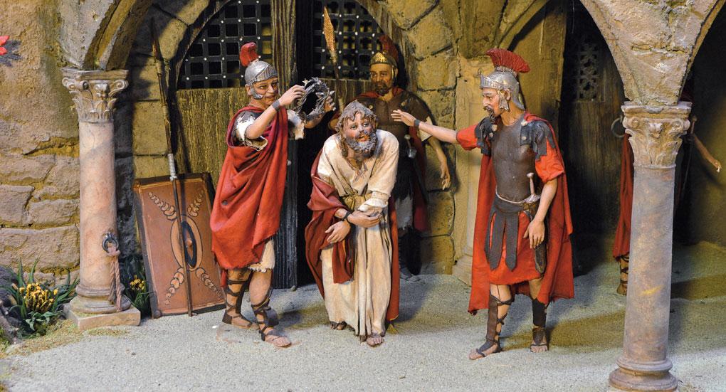 Jesus wird mit Dornen gekrönt